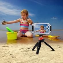 HAWEEL voor iPhone X 40m / 130ft waterdichte duiken huisvesting Foto Video nemen onderwater Cover Case(Black)