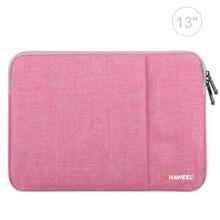 HAWEEL 13 inch Laptoptas Sleeve voor MacBook, Samsung, Lenovo, Sony, Dell, Chuwi, Asus, HP (roze)