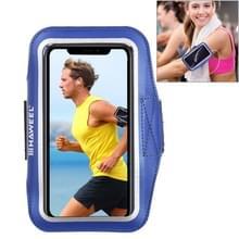 HAWEEL sport armband geval met oortelefoon gat & sleutel zak  voor iPhone XS  iPhone XS Max  iPhone X  iPhone 8 plus & 7 Plus  iPhone 6 plus  Galaxy S9 PLUS/S8 PLUS/S6/S5 (donkerblauw)