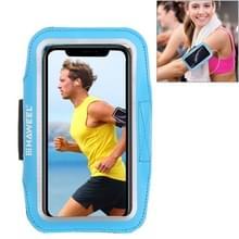 HAWEEL sport armband geval met oortelefoon gat & sleutel zak  voor iPhone XS  iPhone XS Max  iPhone X  iPhone 8 plus & 7 Plus  iPhone 6 plus  Galaxy S9 PLUS/S8 PLUS/S6/S5 (blauw)