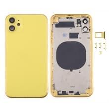 Back Housing Cover met SIM Card Tray & Side keys & Camera Lens voor iPhone 11(Geel)