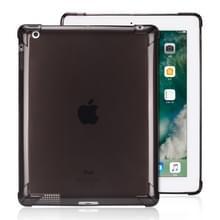 Zeer transparante TPU Full dikker hoeken schokbestendige beschermhoes voor iPad 4/3/2 (zwart)