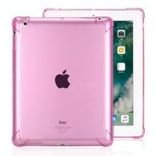 Zeer transparante TPU volledige Thicken hoeken schokbestendige beschermende case voor iPad 4/3/2 (rood)