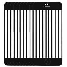 10 stuks voor iPhone 5C Front scherm buitenste glas Lens(Black)