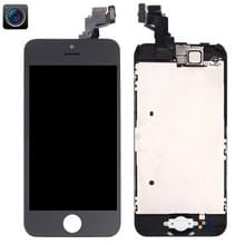 4 in 1 voor iPhone 5C (Front Camera + LCD + Frame + touchpad) Digitizer Assembly(Black)