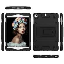 volledige silicone schokbestendige Case voor iPad mini (2019) & 4 & 3 & 2 & 1  met houder (zwart)