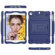 Volledige dekking silicone schokbestendig geval voor iPad mini (2019) & 4 & 3 & 2 & 1  met houder (blauw)