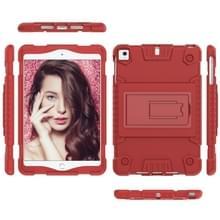Volledige dekking silicone schokbestendig geval voor iPad mini (2019) & 4 & 3 & 2 & 1  met houder (rood)