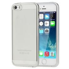 Voor iPhone SE & 5s & 5 galvaniseren transparante zachte TPU beschermende dekking van Case(Silver)
