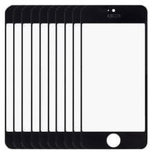 10 stuks voor iPhone 5 & 5S Front scherm buitenste glas Lens(Black)