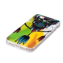 Voor iPhone 5 & 5s & SE Noctilucent uil patroon IMD vakmanschap TPU terug dekken softcase