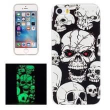 Voor iPhone 5 & 5s & SE Noctilucent Red Eye Ghost patroon IMD vakmanschap TPU terug dekken softcase
