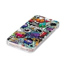 Voor iPhone 5 & 5s & SE Noctilucent vuilnis patroon IMD vakmanschap TPU terug dekken softcase