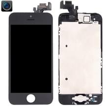 4 in 1 voor iPhone 5 (Front Camera + LCD + Frame + touchpad) Digitizer Assembly(Black)