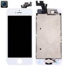 4 in 1 voor iPhone 5 (Front Camera + LCD + Frame + touchpad) Digitizer Assembly(White)