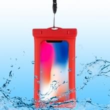 PVC transparante airbag universele waterdichte tas met Lanyard voor smartphones onder 5 5 inch (rood)