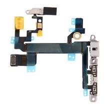 Power knop & zaklamp & Volume knop & Mute Switch Flex kabel met haken voor iPhone 5s