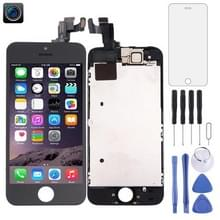 4 in 1 voor iPhone 5s (Front Camera + LCD + Frame + touchpad) Digitizer Assembly(Black)