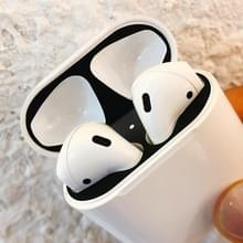 Creatieve stofdichte beschermende sticker voor Apple AirPods 1/2 (zwart)