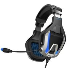 ONIKUMA K12 over ear Bass stereo surround USB + 3.5 mm plug gaming hoofdtelefoon met microfoon & LED Light (blauw)