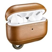 ICARER Voor Apple AirPods Pro Ring Buckle Version Retro oortelefoon beschermleer (Kaki)
