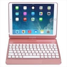 K766 Voor iPad 10.2/iPad Air 3 10.5/iPad Pro 10 5 360-graden Roterende Zevenkleurige Bluetooth-toetsenbordlederen behuizing met zeven kleuren