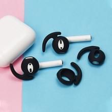 Draadloze Bluetooth oortelefoon silicone ear caps oorkussens voor Apple luchtpods 1/2 (zwart)