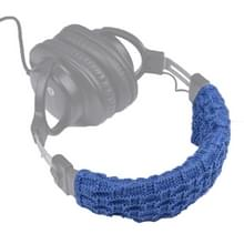 Gebreide hoofdtelefoon stofdichte beschermhoes voor beats Studio2/ATH-MSR7/Sennheiser (blauw)