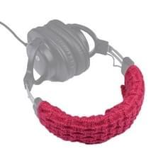 Gebreide hoofdtelefoon stofdichte beschermhoes voor beats Studio2/ATH-MSR7/Sennheiser (rood)