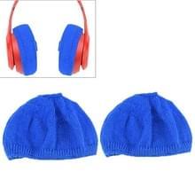 2 stks gebreide hoofdtelefoon stofdichte beschermende case voor beats Studio2 (blauw)