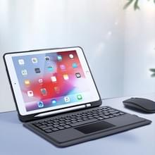DUX DUCIS Voor iPad Pro 9 7 inch Afneembaar Touch Bluetooth Keyboard PU Leather + Siliconen Beschermhoes met Smart Sleep & Wake-up / Pen Slot / Bracket(Black)