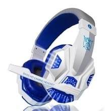 PLEXTONE PC780 over-ear gaming oortelefoon subwoofer stereo Bass hoofdband headset met microfoon & USB LED Light (wit blauw)