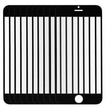 10 stuks voor iPhone 6 voorste scherm buitenste glas Lens(Black)