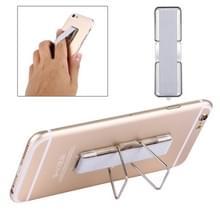 2 in 1 verstelbare universele Mini zelfklevende houder standaard + Slim vinger Grip  grootte: 7.3 x 2.2 x 0.3 cm  voor iPhone  Galaxy  Huawei  Xiaomi  LG  HTC en Tablets(Silver)