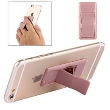 Beknopte stijl veranderlijk verstelbare universele Mini zelfklevende houder standaard  grootte: 6.4 x 3.1 x 0 2 cm  voor iPhone  Galaxy  Huawei  Xiaomi  LG  HTC en tabletten (Rose Gold)