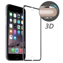 ENKAY voor iPhone 6 & 6s Hat-Prins 0.2mm 9H oppervlakte hardheid 3D aluminiumlegering gebogen rand explosieveilige getemperd glas scherm Protector(Black)