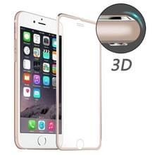 ENKAY voor iPhone 6 & 6s Hat-Prins 0.2mm 9H oppervlakte hardheid 3D aluminiumlegering gebogen rand explosieveilige getemperd glas scherm Protector(Rose Gold)