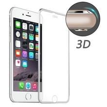 ENKAY voor iPhone 6 & 6s Hat-Prins 0.2mm 9H oppervlakte hardheid 3D aluminiumlegering gebogen rand explosieveilige getemperd glas scherm Protector(Silver)