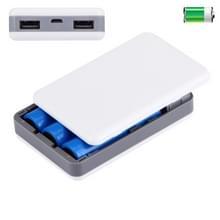 draagbare High-efficiency 3 x 18650 batterijen Plastic Power Bank Shell Box met Dual USB Output & warmtedissipatie gat voor iPhone  iPad  Samsung  LG  Sony Ericsson  MP4  PSP  Camera  batterijen niet inbegrepen