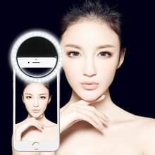 Charging Selfie Beauty Light  For iPhone  Galaxy  Huawei  Xiaomi  LG  HTC and Other Smart Phones with Adjustable Clip & USB Cable(Black)