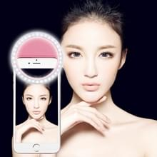 Charging Selfie Beauty Light  For iPhone  Galaxy  Huawei  Xiaomi  LG  HTC and Other Smart Phones with Adjustable Clip & USB Cable(Pink)