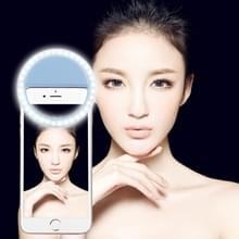 Charging Selfie Beauty Light  For iPhone  Galaxy  Huawei  Xiaomi  LG  HTC and Other Smart Phones with Adjustable Clip & USB Cable(Blue)