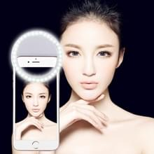Charging Selfie Beauty Light  For iPhone  Galaxy  Huawei  Xiaomi  LG  HTC and Other Smart Phones with Adjustable Clip & USB Cable(White)