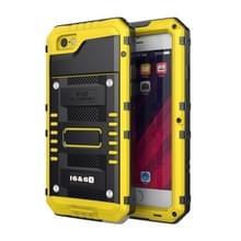 Waterdichte stofdichte schokbestendige zink legering + siliconen case voor iPhone 6 & 6s (geel)
