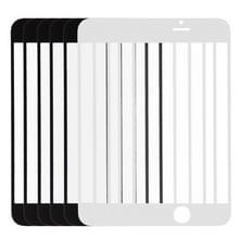 5 stuks Black + 5 stuks wit voor iPhone 6 Front scherm Outer glazen Lens