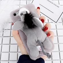 Voor iPhone 6 & 6s Fashion pluche mooie ezel Doll speelgoed back cover beschermhoes (grijs)