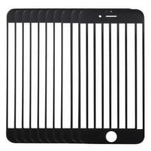 10 stuks voor iPhone 6s Plus Front scherm Outer glaslens (zwart)