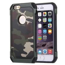 Voor iPhone 6 Plus & 6s Plus Camouflage patronen schokbestendige harde Armor PC + siliconen combinatie Case(Green)