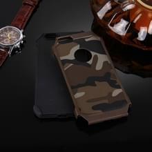 Voor iPhone 6 Plus & 6s Plus Camouflage patronen schokbestendige harde Armor PC + siliconen combinatie Case(Brown)