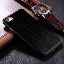 iPhone 6 Plus & 6S Plus Krokodil patroon Kunststof back cover Hoesje (zwart)